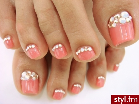 Toe Nail Designs With Gems