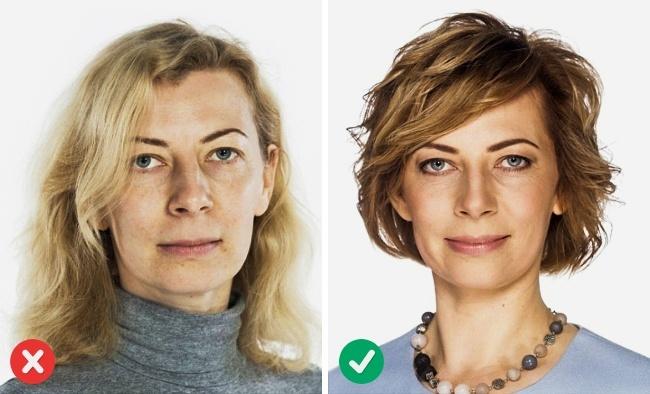 Na jakie strzyżenie postawić? Jeśli chodzi o strzyżenie, najlepszym sposobem, by wyglądać młodziej, jest opcja warstwowania i cieniowania fryzury na całej długości włosa. Efekty są widoczne na poniższym zdjęciu.