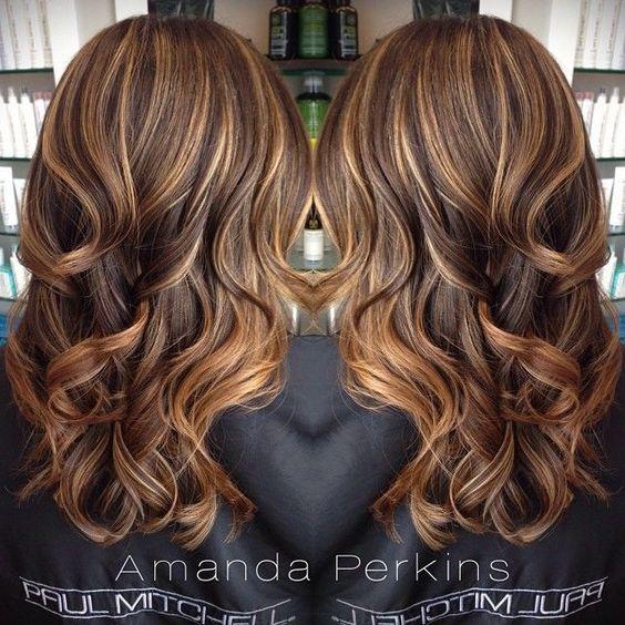 Modne kolory... Ombre Highlights For Dark Brown Hair