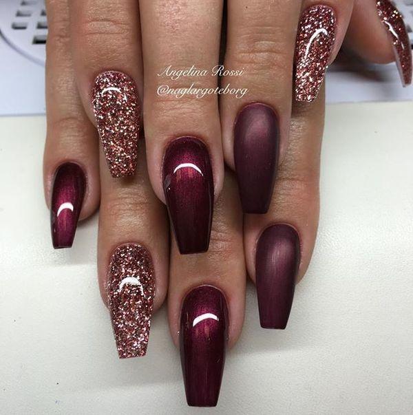 Bordo Czerwień I Odcienie Różu Piękne Stylizacje Manicure Z