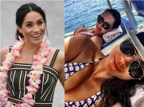 Ciężarna Meghan Markle na plaży. A jak wygląda w bikini?