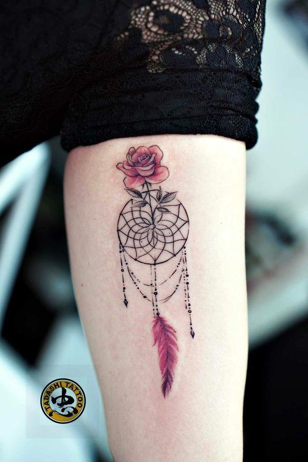 Tatuaż łapacz Snów 18 Niesamowitych Wzorów Dla Kobiet