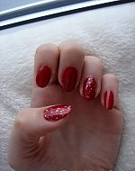 my shiny red nails <3