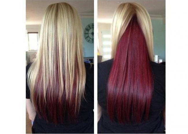 Koloryzacyjny Trend Włosy Z Kolorowym Spodem Hit Czy Kit