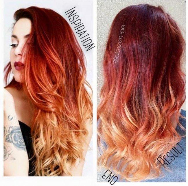 Hot trend w koloryzacji włosów: ogniste ombre