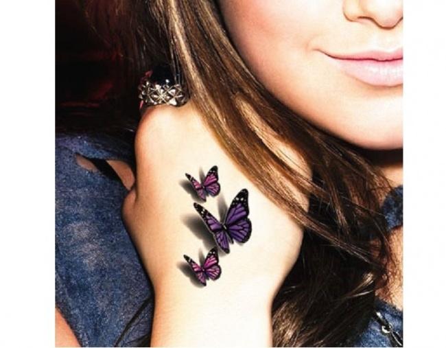 Mały tatuaż 3D - urocze wzory dla dziewczyn