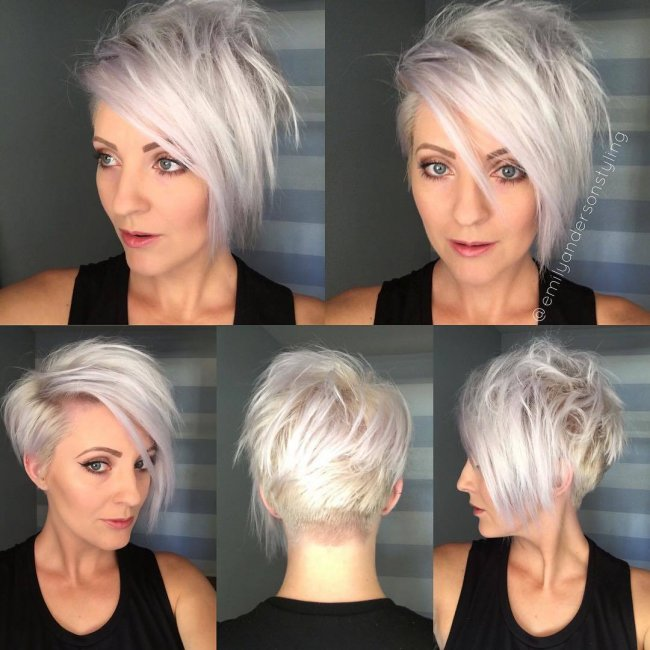 Celebrity bang hairstyle ideas haircuts and hairstyles for 2017 - Zadziorne Fryzury Messy Z Grzywk Asymetryczne Undercut