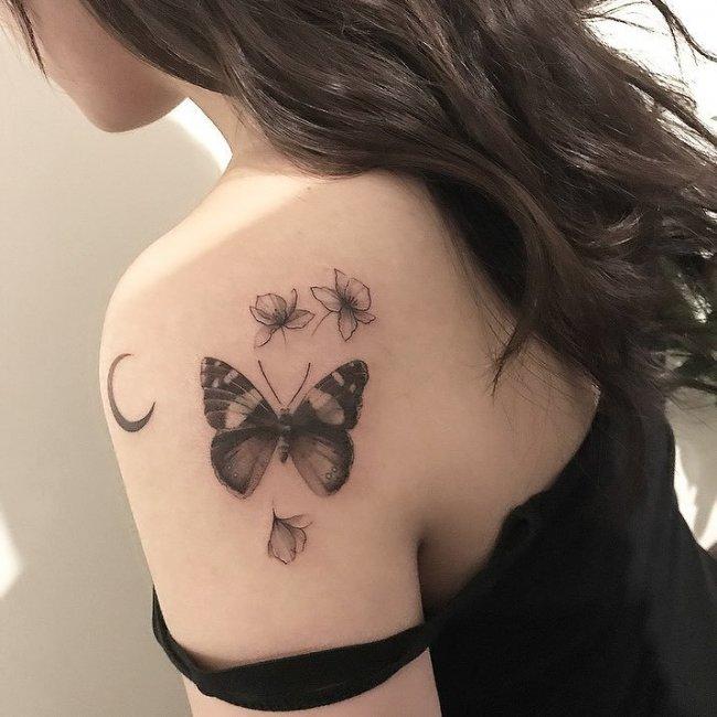 Tatuaż Motyl 20 Pomysłowych Wzorów Dla Dziewczyn