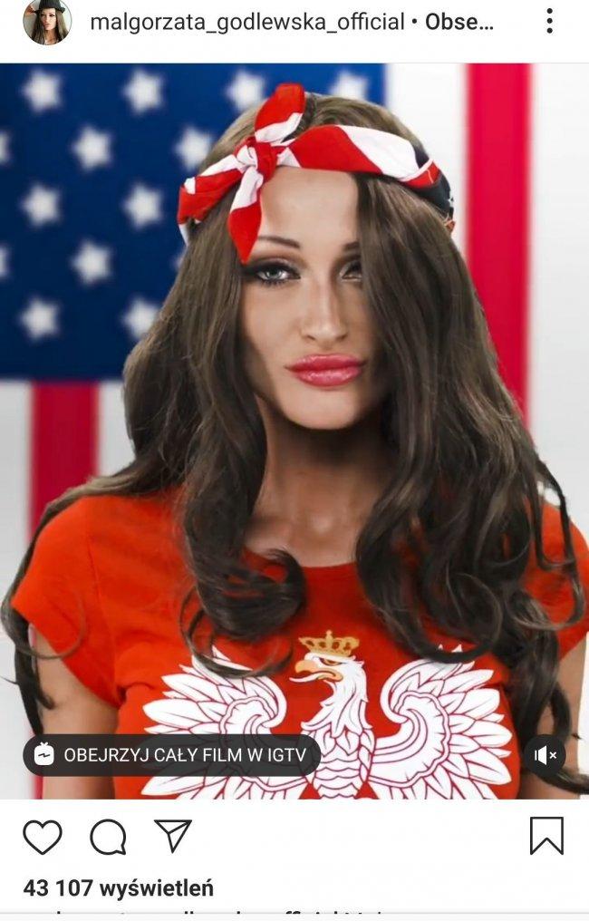 Zobaczcie zdjęcia, jak Godlewska wykonuje hymn USA.